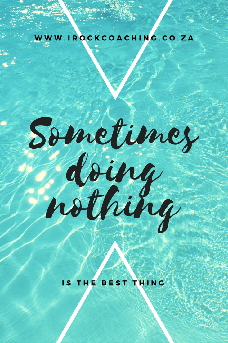 Sometimes doing nothing